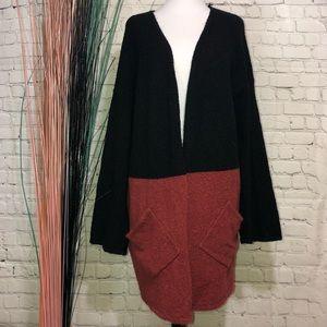 Belldini Women's Color Block Open Sweater Cardigan